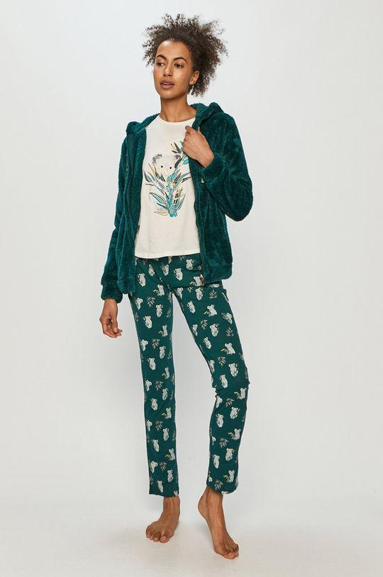 ciemny turkusowy Etam - Komplet piżamowy 3-częściowy RAFAEL Damski