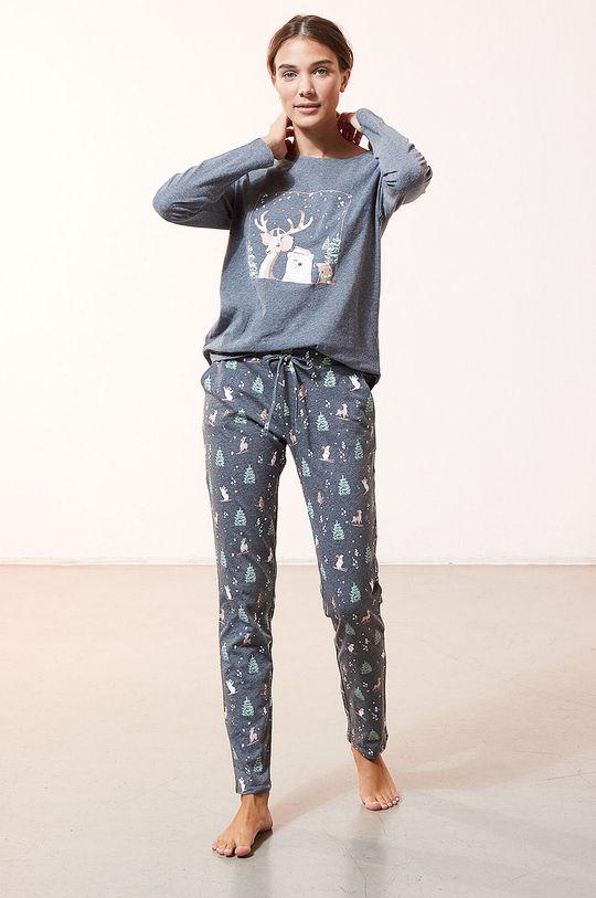 granatowy Etam - Komplet piżamowy 3-częściowy ODEON Damski