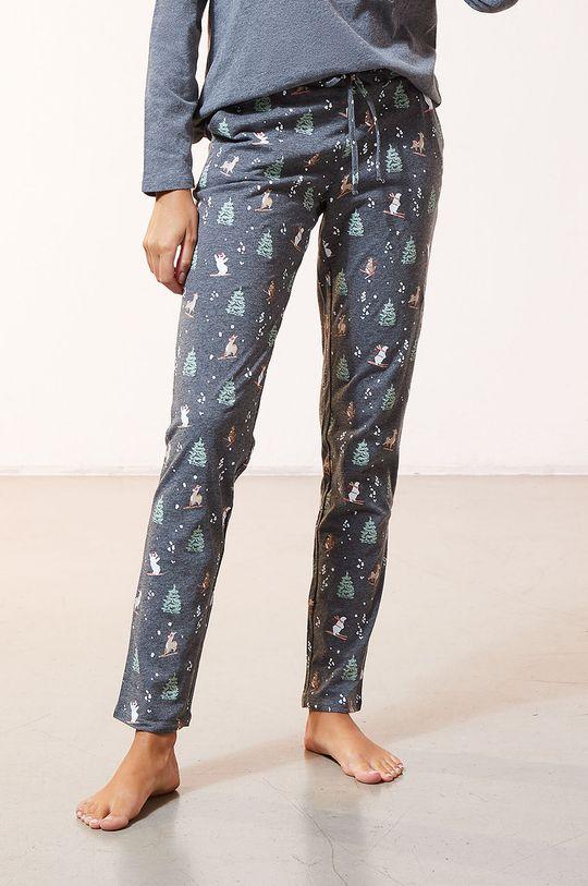 Etam - Komplet piżamowy 3-częściowy ODEON Materiał 1: 100 % Poliester, Materiał 2: 100 % Bawełna