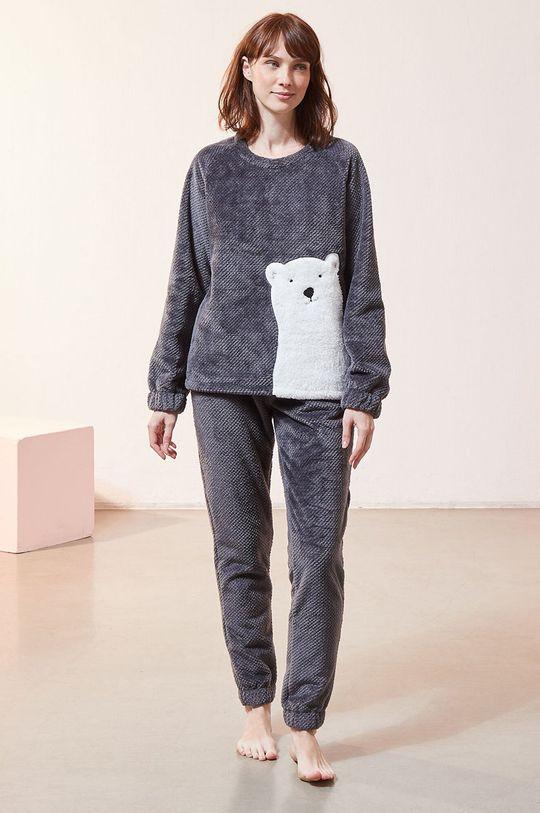 szary Etam - Spodnie piżamowe OXFORD
