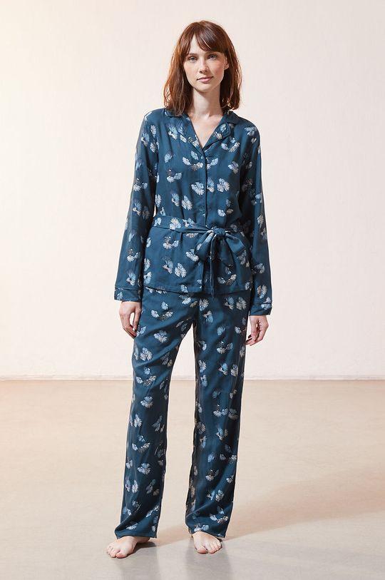 Etam - Spodnie piżamowe JUNE ciemny turkusowy