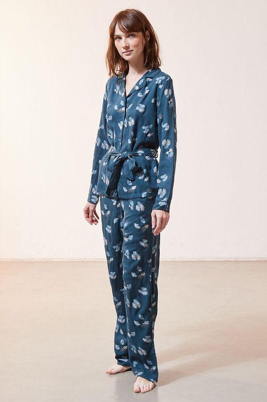 ciemny turkusowy Etam - Spodnie piżamowe JUNE