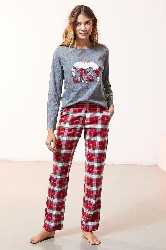 szary Etam - Komplet piżamowy 3-częściowy OWEN Damski