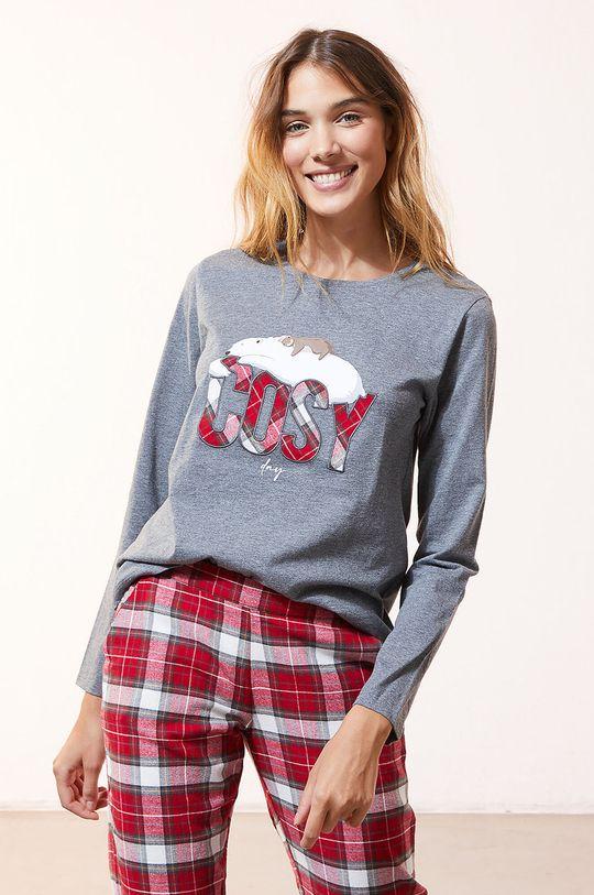 Etam - Komplet piżamowy 3-częściowy OWEN szary