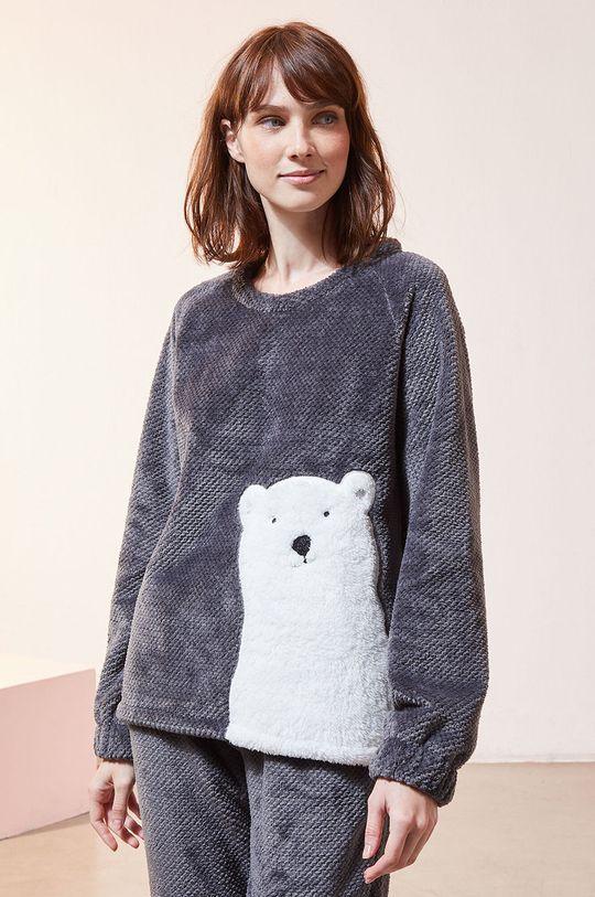 szary Etam - Bluza piżamowa OXFORD Damski