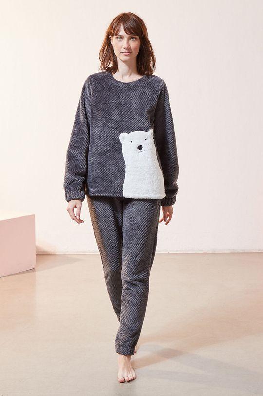 Etam - Bluza piżamowa OXFORD szary