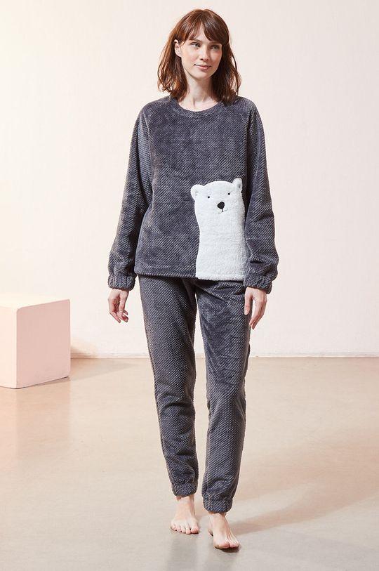 szary Etam - Bluza piżamowa OXFORD