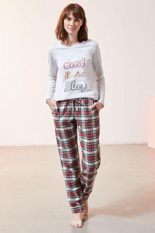 czerwony Etam - Komplet piżamowy 3-częściowy OLYMPE Damski