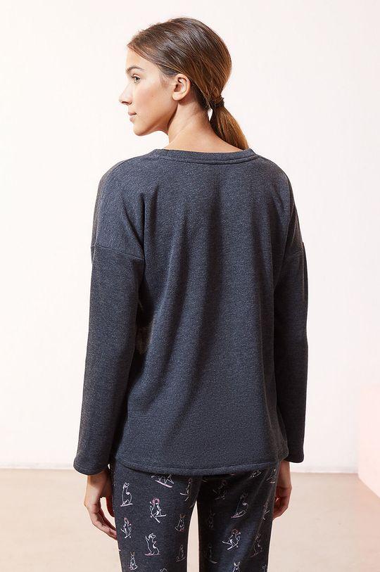 Etam - Longsleeve piżamowy OVIDE 5 % Elastan, 62 % Poliester, 33 % Wiskoza