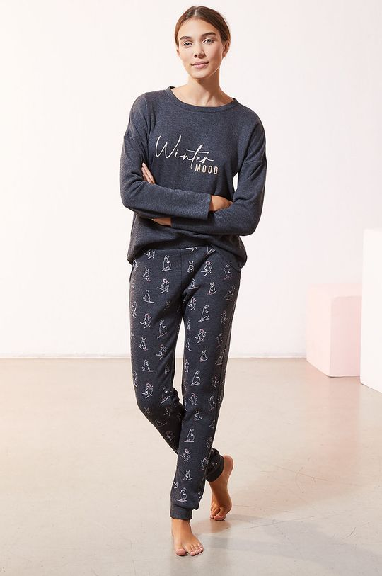 szary Etam - Longsleeve piżamowy OVIDE