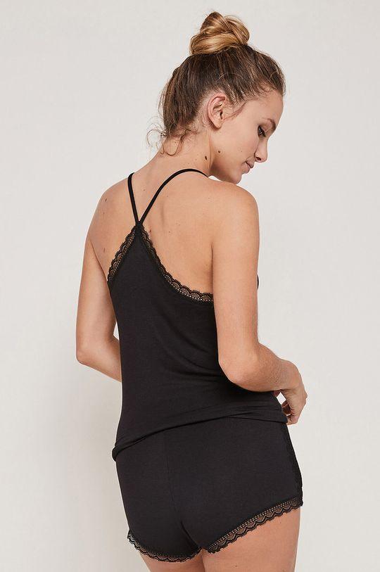 Undiz - Szorty piżamowe SIDEVITAMIZ czarny