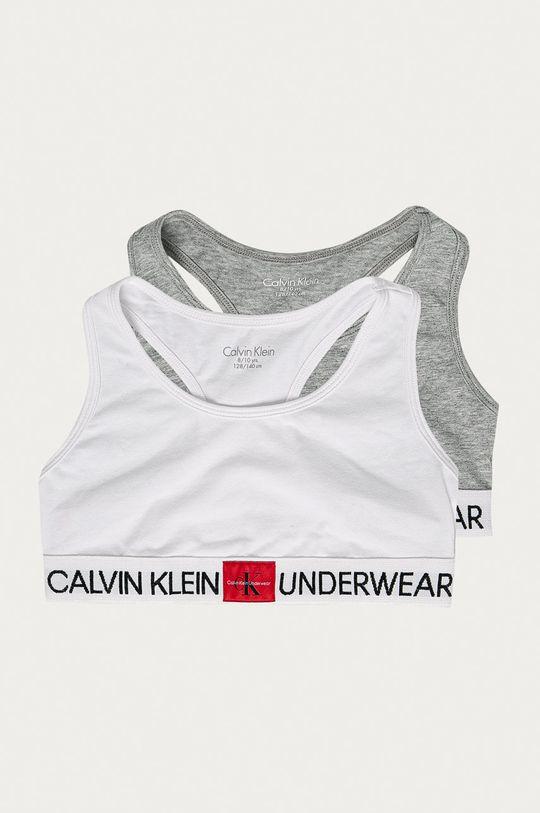 světle šedá Calvin Klein Underwear - Dětská podprsenka (2-pack) Dívčí