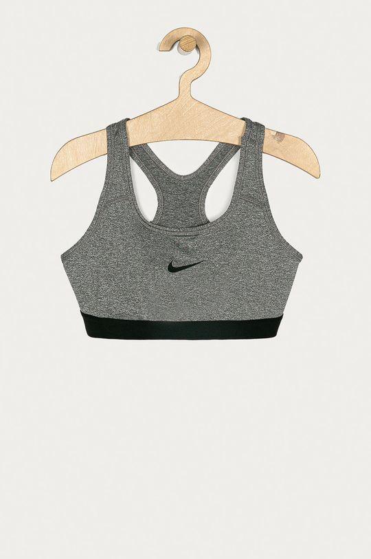 szary Nike Kids - Biustonosz sportowy dziecięcy 128-166 cm Dziewczęcy