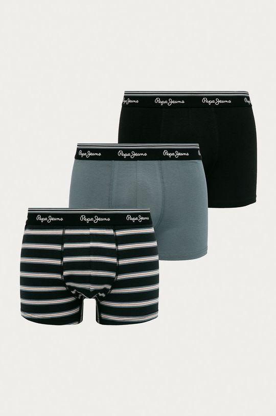 černá Pepe Jeans - Boxerky Theon (3-pack) Pánský