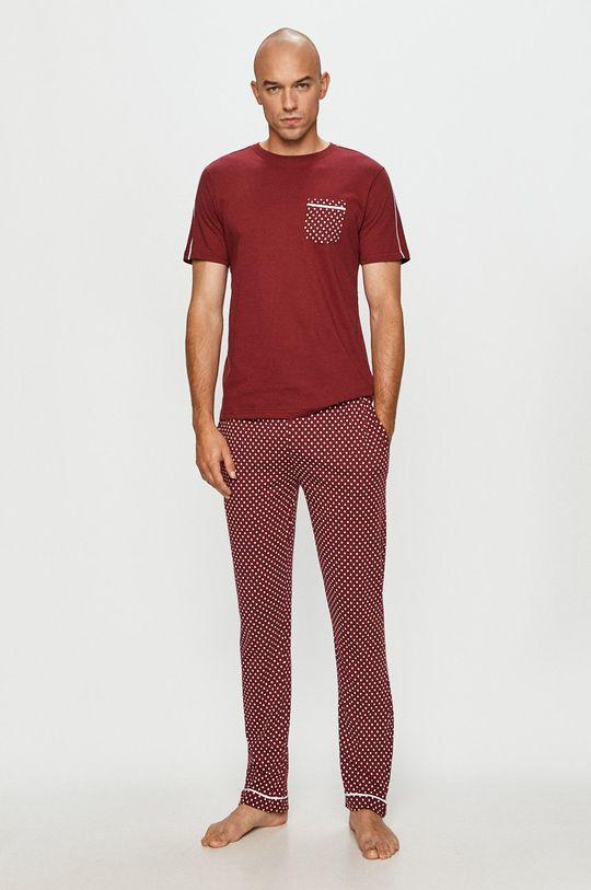 červená Brave Soul - Pyžamo Pánský