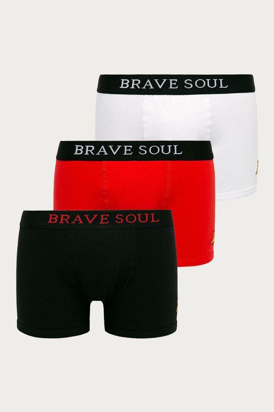 czarny Brave Soul - Bokserki (3-pack) Męski