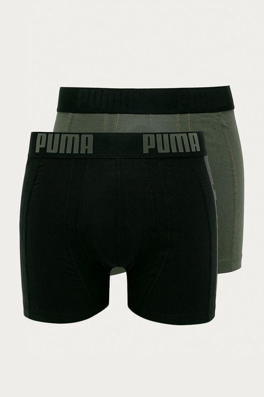 brudny zielony Puma - Bokserki (2-pack) Męski