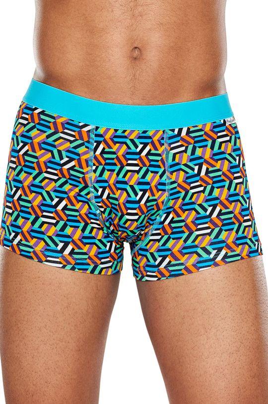 vícebarevná Happy Socks - Boxerky Hexagon Pánský