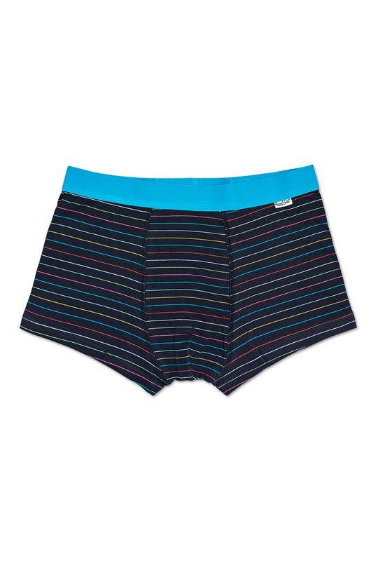 czarny Happy Socks - Bokserki Thin Stripe Męski