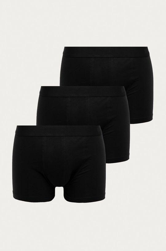 czarny Resteröds - Bokserki (3-pack) Męski