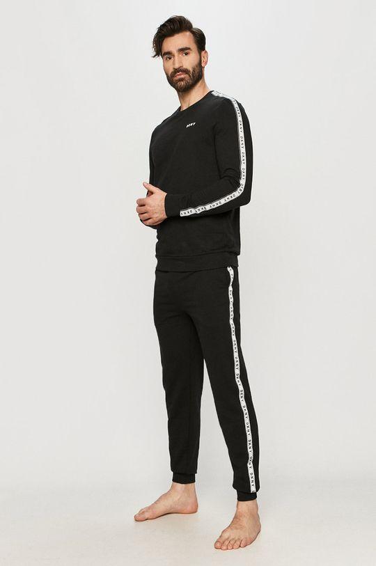 Dkny - Longsleeve piżamowy czarny
