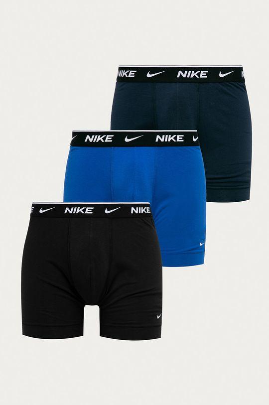 tmavomodrá Nike - Boxerky (3-pak) Pánsky