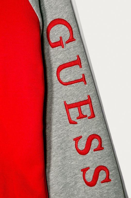 Guess Jeans - Dětská mikina 116-176 cm  Materiál č. 1: 100% Bavlna Materiál č. 2: 92% Bavlna, 8% Polyester Podšívka kapuce: 89% Bavlna, 11% Polyester