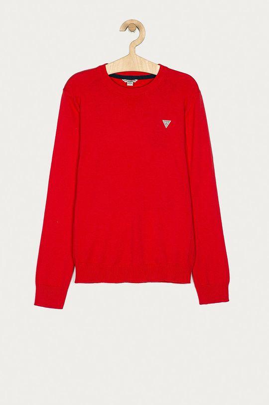 czerwony Guess Jeans - Sweter dziecięcy 152-175 cm Chłopięcy