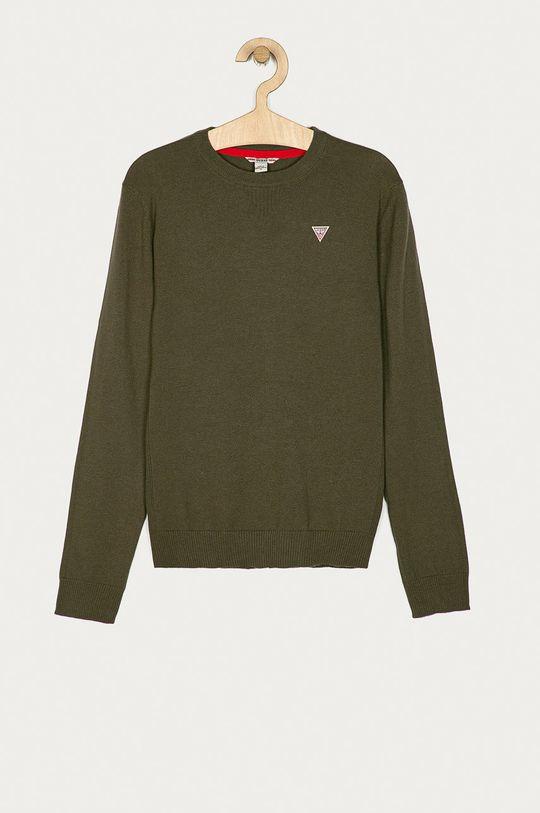zielony Guess Jeans - Sweter dziecięcy 152-175 cm Chłopięcy