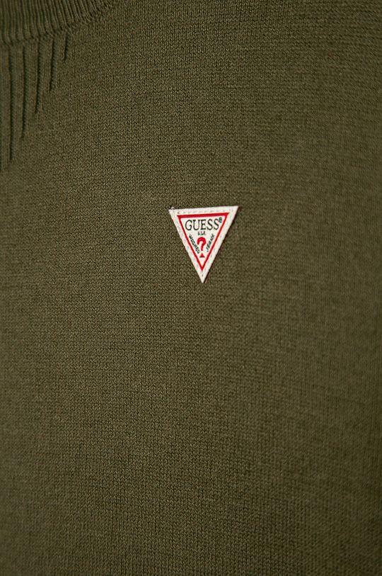 Guess Jeans - Sweter dziecięcy 152-175 cm zielony