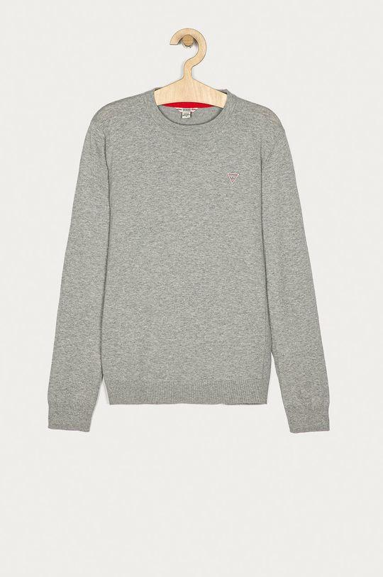 szary Guess Jeans - Sweter dziecięcy 152-175 cm Chłopięcy