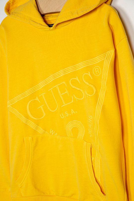 Guess Jeans - Detská bavlnená mikina 116-175 cm žltá
