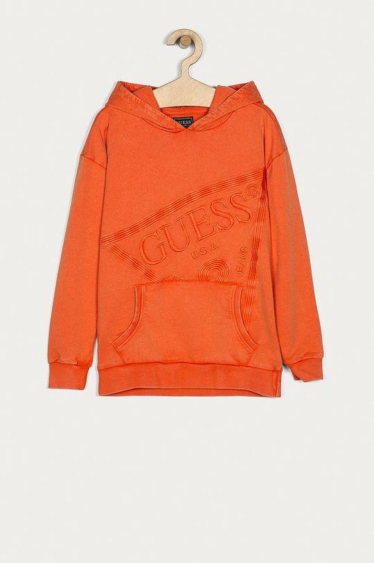 oranžová Guess Jeans - Detská bavlnená mikina 116-175 cm Chlapčenský