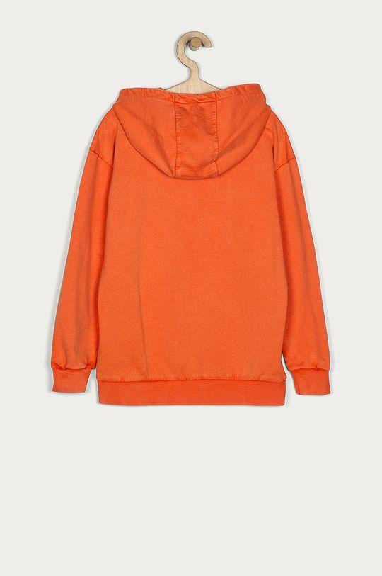 Guess Jeans - Detská bavlnená mikina 116-175 cm oranžová
