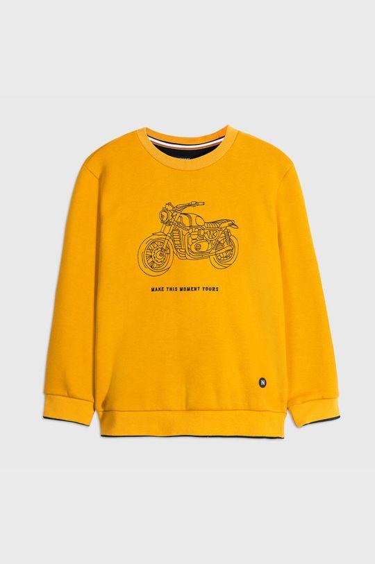 bursztynowy Mayoral - Bluza dziecięca 128-172 cm Chłopięcy