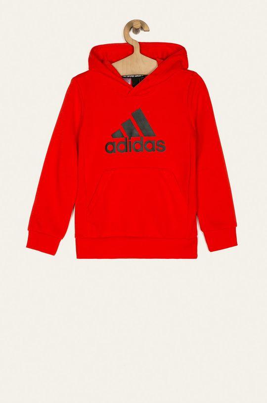 červená adidas Performance - Mikina GE0692 Chlapecký
