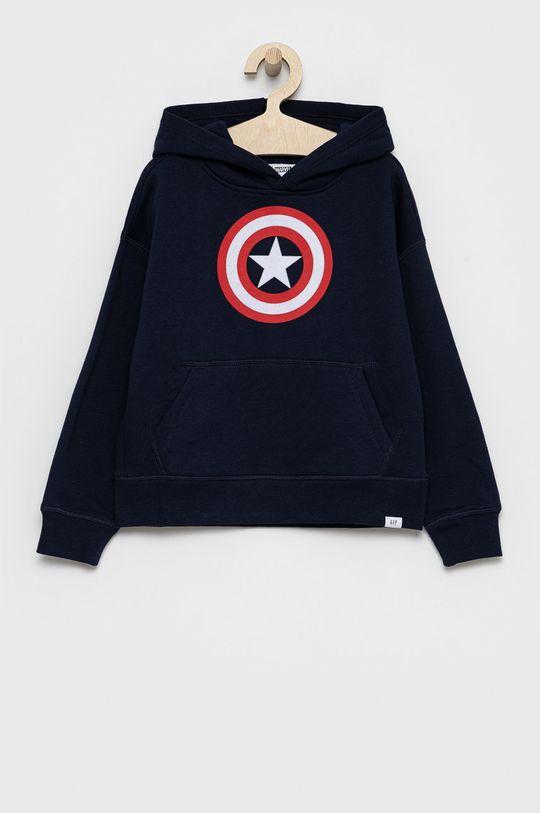 granatowy GAP - Bluza dziecięca x Marvel Chłopięcy