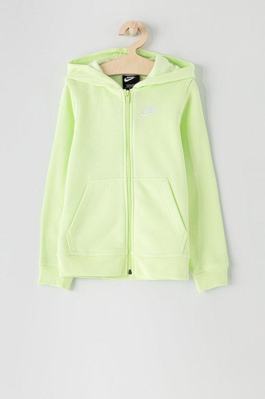 jasny zielony Nike Kids - Bluza dziecięca 122-170 cm Chłopięcy