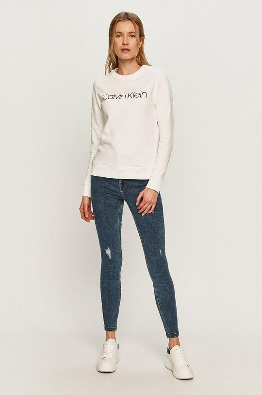 Calvin Klein - Bavlněná mikina bílá