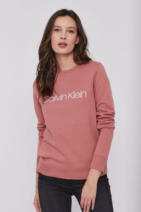 růžová Calvin Klein - Bavlněná mikina Dámský