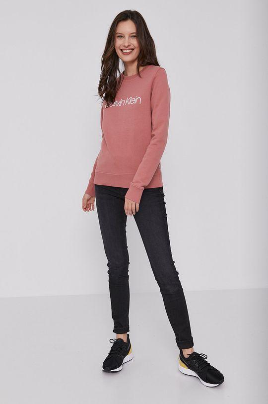 Calvin Klein - Bavlněná mikina růžová