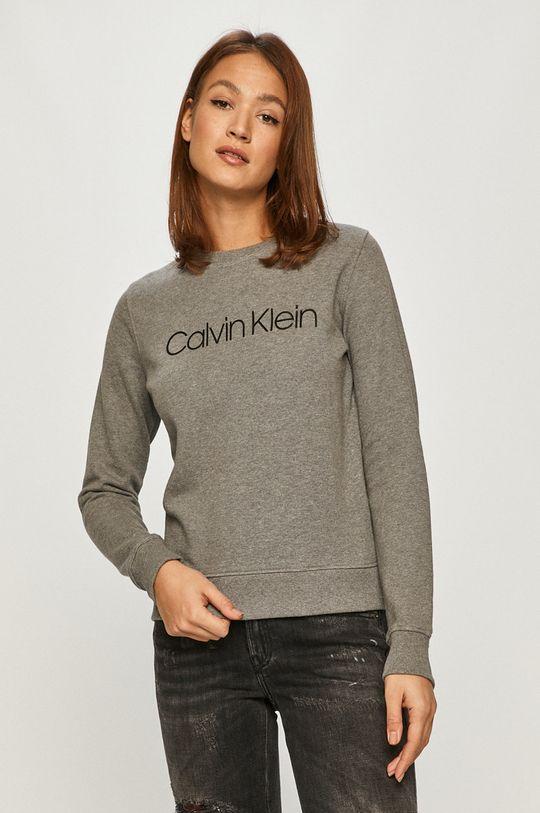 gri Calvin Klein - Hanorac de bumbac De femei