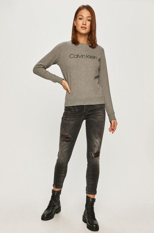 Calvin Klein - Hanorac de bumbac gri