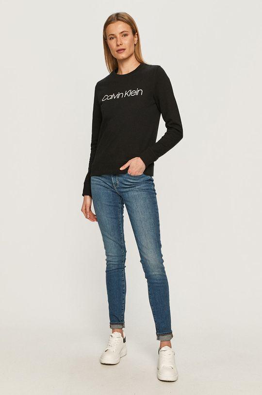 Calvin Klein - Bavlněná mikina černá