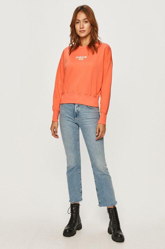 Calvin Klein Jeans - Bluza roz murdar