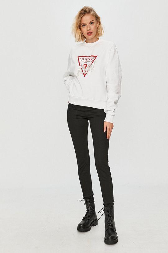Guess Jeans - Хлопковая кофта белый