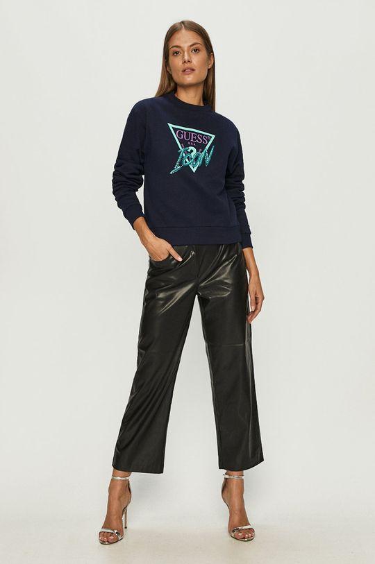 Guess Jeans - Хлопковая кофта тёмно-синий