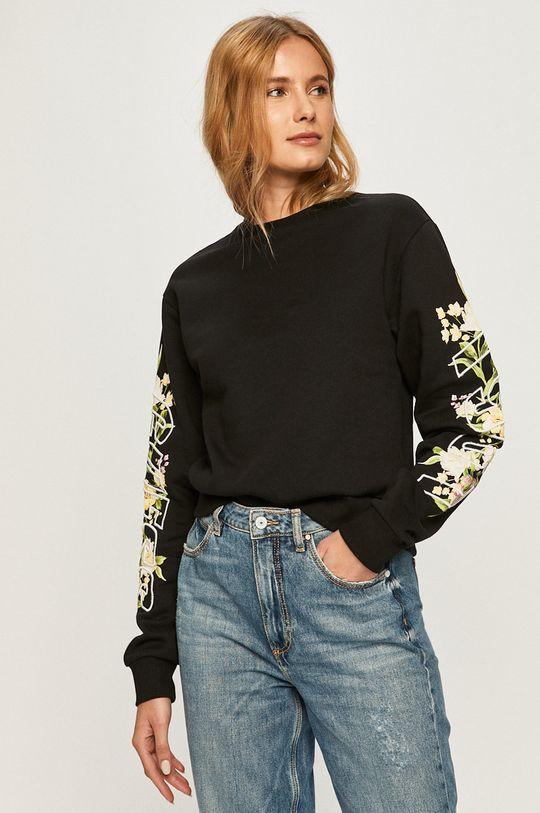 negru Guess Jeans - Hanorac de bumbac De femei