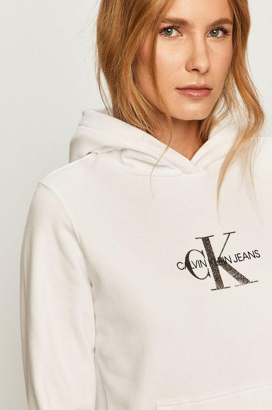 alb Calvin Klein Jeans - Hanorac de bumbac