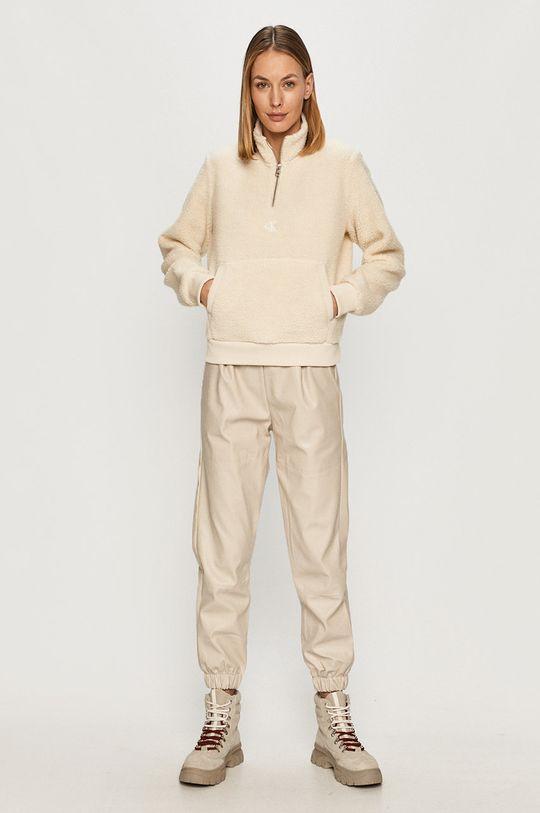 Calvin Klein Jeans - Mikina krémová